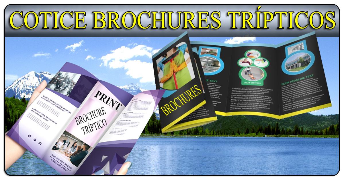 Cotice sus brochures tripticos doblados en tres (506)2282-5122 / (506)2282-6211