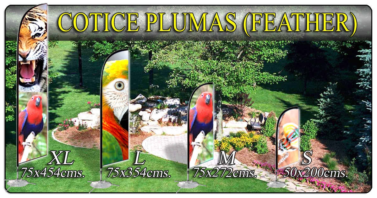 Cotice su Banner tipo Pluma (Feather) (506)2282-5122 / (506)2282-6211