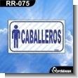 Rotulo Prefabricado - CABALLEROS