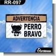 Rotulo Prefabricado - PERRO BRAVO