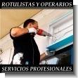 Se buscan ayudantes, operarios y rotulistas temporales