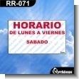 Rotulo Prefabricado - HORARIO DE LUNES A VIERNES SABADO