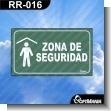 Rotulo Prefabricado - ZONA DE SEGURIDAD