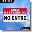 Rotulo Prefabricado - AREA RESTRINGIDA NO ENTRE / KEEP OUT