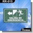 Rotulo Prefabricado - SALIDA DE EMERGENCIA IZQUIERDA