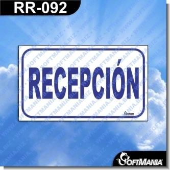 RR-092:  Rotulo Prefabricado - RECEPCION