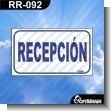 Rotulo Prefabricado - RECEPCION