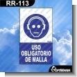 Rotulo Prefabricado - USO OBLIGATORIO DE MALLA VERSION 02