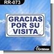 Rotulo Prefabricado - GRACIAS POR SU VISITA