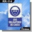 Rotulo Prefabricado - USO OBLIGATORIO DE CASCO