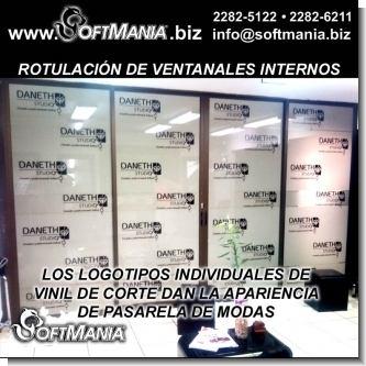 Rotulacion de Ventanales Internos de Local Comercial
