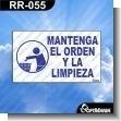 Rotulo Prefabricado - COOPERE CON EL ORDEN Y EL ASEO