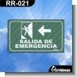 Rotulo Prefabricado - SALIDA DE EMERGENCIA IZQUIERDA VERSION 02