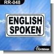 Rotulo Prefabricado - ENGLISH SPOKEN