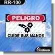 Rotulo Prefabricado - PELIGRO CUIDE SUS MANOS