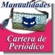 MANUALIDADES:  Cartera de Mano Tejida con Periodico