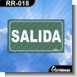Rotulo Prefabricado - SALIDA