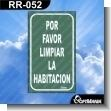 Rotulo Prefabricado - POR FAVOR LIMPIAR LA HABITACION