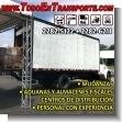 Servicio completo de carga, transporte y descarga para mudanzas, aduanas y almacenes fiscales con personal especializado