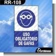 Rotulo Prefabricado - USO OBLIGATORIO DE GAFAS