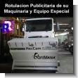 Rotulacion Publicitaria de su Maquinaria y Equipo Especial
