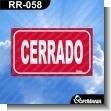 Rotulo Prefabricado - CERRADO / CLOSE