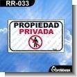 Rotulo Prefabricado - PROPIEDAD PRIVADA