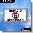 Rotulo Prefabricado - ESPACIO RESERVADO