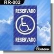 Rotulo Prefabricado - RESERVADO / RESERVED
