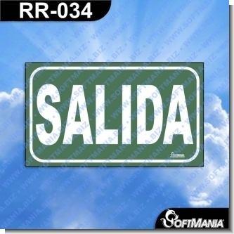 Lee el articulo completo Rotulo Prefabricado - SALIDA / EXIT