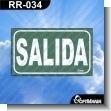 Rotulo Prefabricado - SALIDA / EXIT
