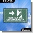 Rotulo Prefabricado - SALIDA DE EMERGENCIA DERECHA VERSION 02
