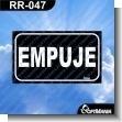 Rotulo Prefabricado - EMPUJE / PUSH