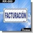 Rotulo Prefabricado - FACTURACION