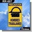 Rotulo Prefabricado - HOMBRES TRABAJANDO / MEN WORKING