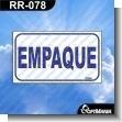 Rotulo Prefabricado - EMPAQUE