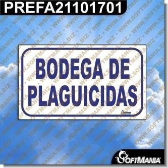 Rotulo Prefabricado - BODEGA DE PLAGUICIDAS