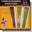 ADORNOS DE NAVIDAD - CANDELAS NAVIDEÑAS 1X2 / 1X4