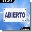 Rotulo Prefabricado - ABIERTO / OPEN