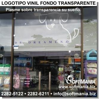 Logotipo vinil fondo transparente