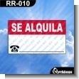 Rotulo Prefabricado - SE ALQUILA