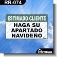 Rotulo Prefabricado - ESTIMADO CLIENTE HAGA SU APARTADO NAVIDENO